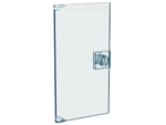 Trans-Light Blue Door 1 x 4 x 6 with Stud Handle