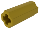 Yellow Technic, Axle Connector (Smooth with x Hole + Orientation)